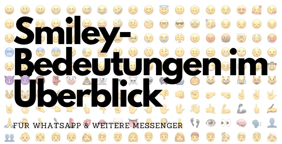 Bedeutung smilys Emoji Bedeutung: